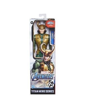 """AVENGERS FIGURA 12"""" TITAN HERO BLAST GEAR LOKI E7874"""