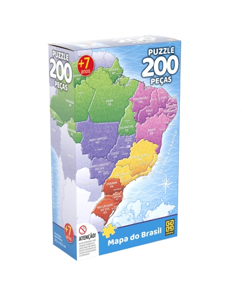 P. 200 PÇS MAPA DO BRASIL