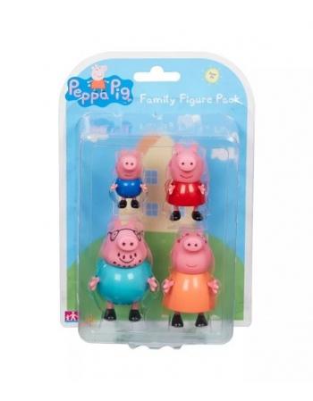 PEPPA PIG FIGURAS FAMILIA PACK C/4