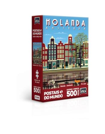P. 500 PÇS POSTAIS DO MUNDO HOLANDA - AMSTERDÃ